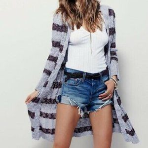 NWT Free People Free Spirit Striped Duster Sweater